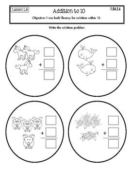 Interactive Math Notebook Go Math First Grade Chapter 1