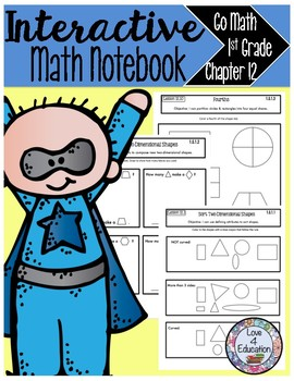 Interactive Math Notebook Go Math First Grade Chapter 12