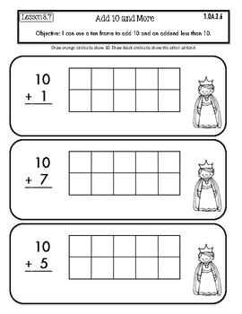 Interactive Math Notebook Go Math First Grade Chapter 3