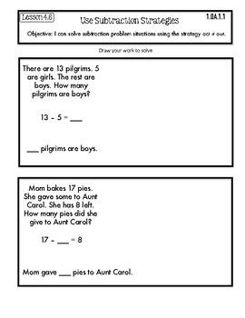 Interactive Math Notebook Go Math First Grade Chapter 4