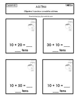 Interactive Math Notebook Go Math First Grade Chapter 8