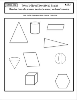 Interactive Math Notebook Go Math Kindergarten Chapter 10