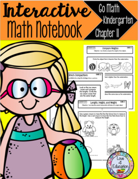 Interactive Math Notebook Go Math Kindergarten Chapter 11