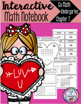 Interactive Math Notebook Go Math Kindergarten Chapter 7