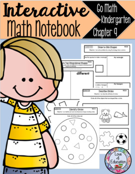 Interactive Math Notebook Go Math Kindergarten Chapter 9
