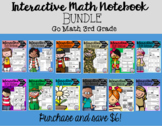 Interactive Math Notebook Go Math Third Grade BUNDLE