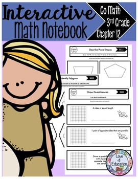 Interactive Math Notebook Go Math Third Grade Chapter 12