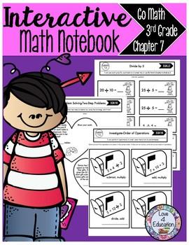 Interactive Math Notebook Go Math Third Grade Chapter 7
