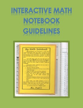 Interactive Math Notebook Guidelines