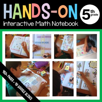 Interactive Math Notebook Fifth Grade Common Core with Scaffolded Notes