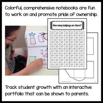 Interactive Math Notebook Kindergarten Common Core with Scaffolded Notes