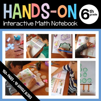 Interactive Math Notebook Sixth Grade Common Core with Scaffolded Notes