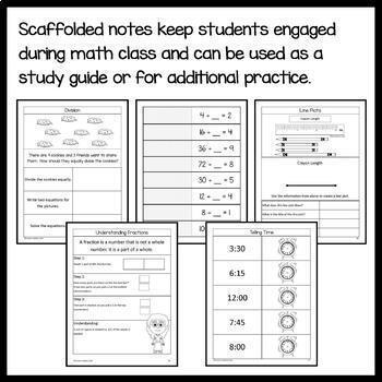 Interactive Math Notebook Third Grade Common Core