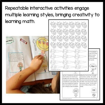 Interactive Math Notebook Third Grade Common Core with Scaffolded Notes