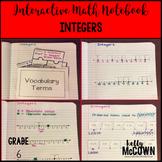 Interactive Math Notebook: Integers {Grade 6}