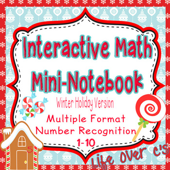 Interactive Math Notebook: Interactive Mini-Book for Numbers 1-10 Winter