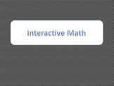 Interactive Math Notebook Journal