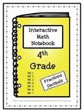 Interactive Math Notebook / Journal - 4th Grade - (Fractions / Decimals)