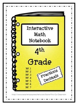 Interactive Math Notebook / Journal - 4th Grade - (Fractio