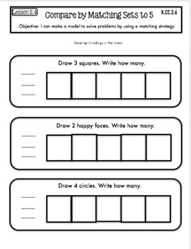 Interactive Math Notebook Go Math Kindergarten Chapter 2