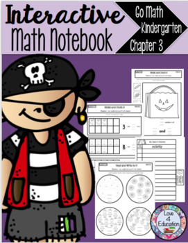 Interactive Math Notebook Go Math Kindergarten Chapter 3