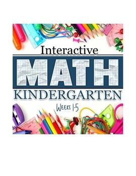 Interactive Math Notebook: Kindergarten Weeks 1 - 5
