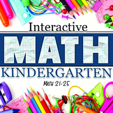 Interactive Math Notebook: Kindergarten Weeks 21-25