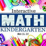 Interactive Math Notebook: Kindergarten Weeks 26-30