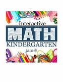 Interactive Math Notebook: Kindergarten Weeks 6- 10