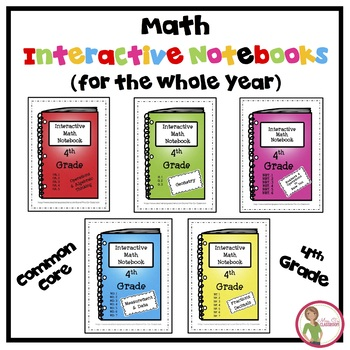 Math Interactive Notebook - BUNDLE - ALL 4th Grade Common