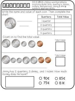 Interactive Math Notebook Measurement & Data - Second Grade