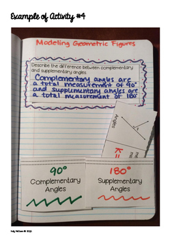 Interactive Math Notebook: Modeling Geometric Figures {Grade 7}