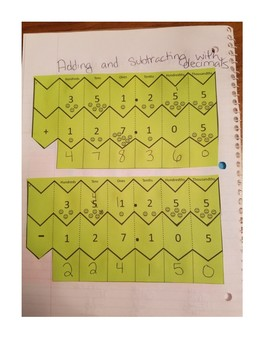 Interactive Math Notebook: Multidigit Whole Numbers and Decimals