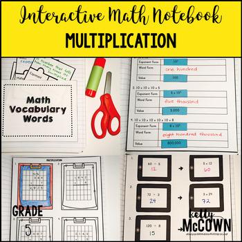 Interactive Math Notebook: Multiplication {Grade 5}