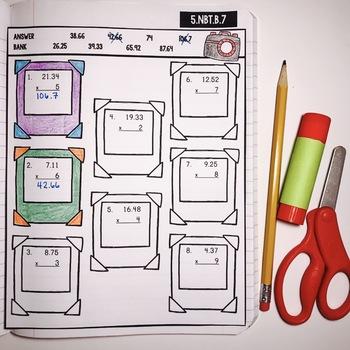 Interactive Math Notebook: Multiplying Decimals {Grade 5}