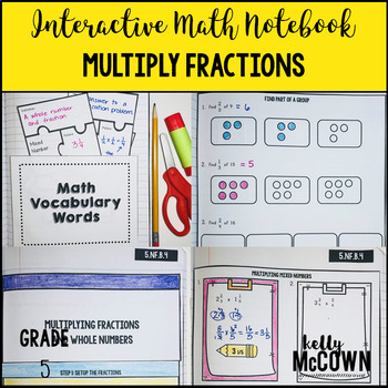 Interactive Math Notebook: Multiplying Fractions {Grade 5}