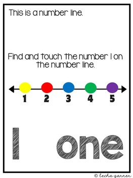 Interactive Math Notebook Number 1 for Special Education