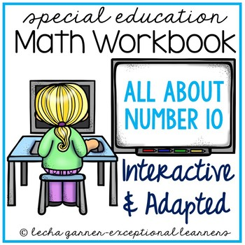 Interactive Math Notebook Number 10 for Special Education