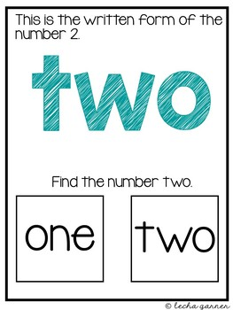 Interactive Math Notebook Number 2 for Special Education