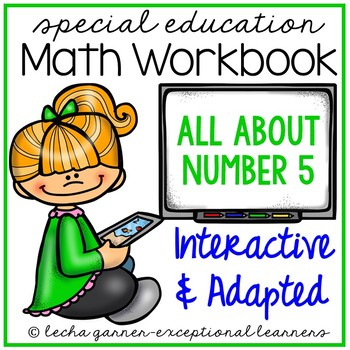 Interactive Math Notebook Number 5 for Special Education
