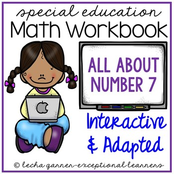 Interactive Math Notebook Number 7 for Special Education