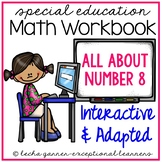 Interactive Math Notebook Number 8 for Special Education