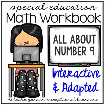 Interactive Math Notebook Number 9 for Special Education