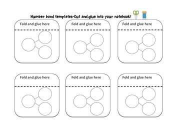 Interactive Math Notebook  Number Bond Templates For FALL FREEBIE!