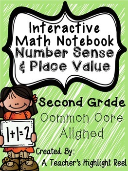 Interactive Math Notebook Number Sense & Place Value - Second Grade