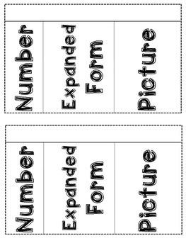 Interactive Math Notebook Number Sense & Place Value - Second Grade