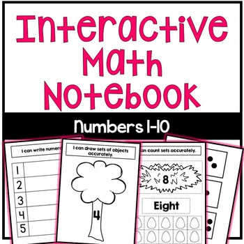 Interactive Math Notebook: Numbers 1-10