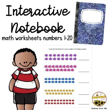 Interactive Math Notebook (Numbers 1-20)