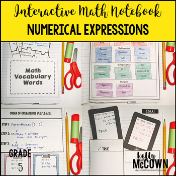 Interactive Math Notebook: Numerical Expressions {Grade 5}