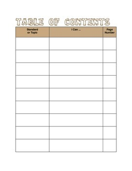 Interactive Math Notebook Opening Pages Camping Theme